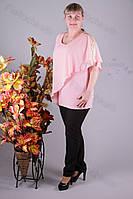 Блуза 2906-436/3 шифон больших размеров оптом