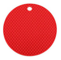 Подставка под горячее (силикон) красная Home Essentials B1160, фото 1