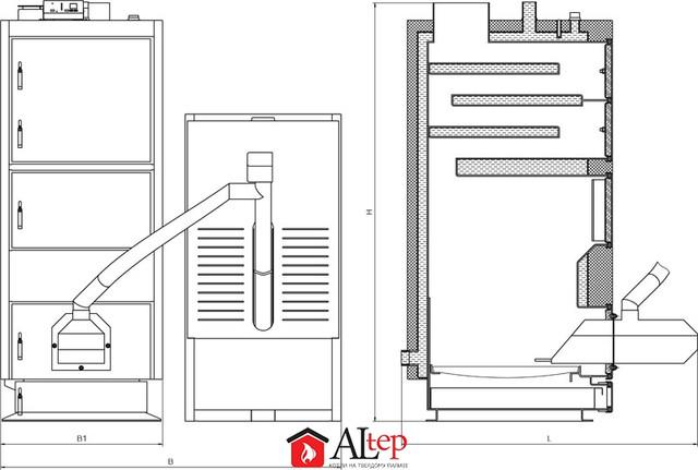 ALTEP КТ-2ЕPG стальной  твердотопливный котел длительного горения