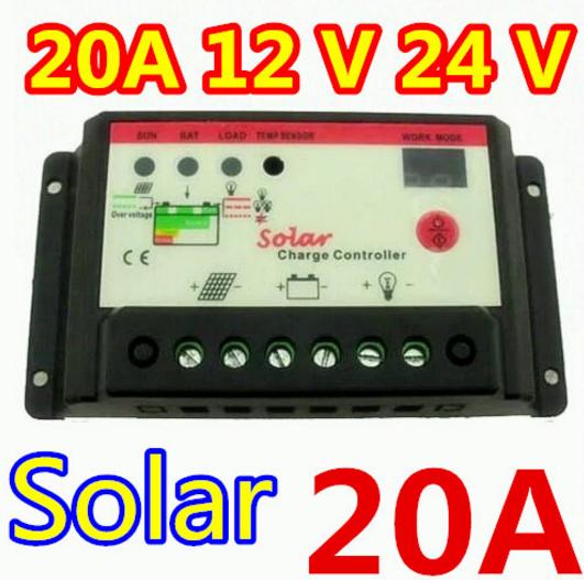 Контроллер заряда для солнечных панелей С2024 (12/24В 20А)
