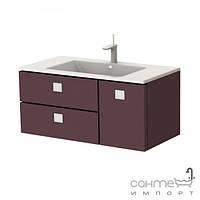 Мебель для ванных комнат и зеркала Botticelli Тумба с раковиной Botticelli Rimini Rm-100 Глянцевый бордовый
