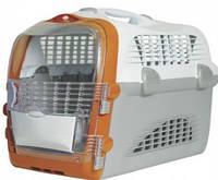 Hagen Catit CABRIO - Кабрио - переноска для кошек и миниатюрных собак(оранж./серый)