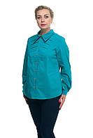 Женская рубашка большого размера Бирюза