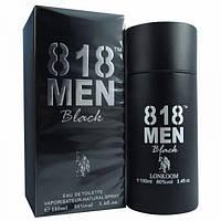"Парфюмерная вода с феромонами ""818 Men Black"" для мужчин (25мл)."