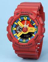 Распродажа! Яркие спортивные часыCasio g-shock Ga-110 All Red AAA