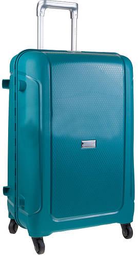 Годный чемодан на 4-х колесах CARLTON 242J455;93, бирюзовый, пластик, 38 л.