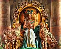 Картина для рисования камнями стразами Diamond painting Алмазная вышивка алмазами мозаика девушка с гепардами