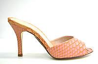 Сабо женские Vallenssia коралловые на каблуке
