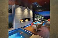 Дизайн гостиной с камином, фото 1