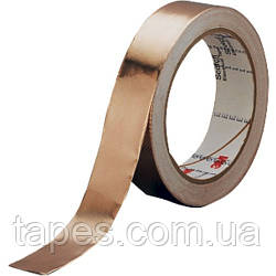 Медная экранирующая лента 3M 1181 (6мм Х 16,5м), акриловый токопроводящий клей, Аmin = 60 дБ