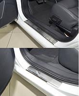 Накладки на пороги MG 350 2015- 4шт. premium
