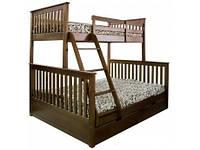 Кровать трех спальная «Лола Семейная» из натурального дерева
