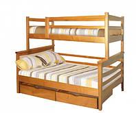 Кровать трех спальная «Санта Семейная» из натурального дерева
