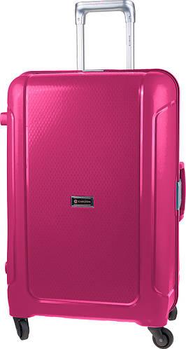 Вместимый чемодан на 4-х колесах CARLTON 242J478;66, розовый, пластик, 110 л.