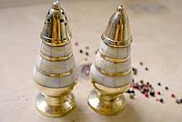 Солонка ,перечница бронза с перламутром