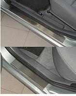 Накладки на пороги Nissan  Almera Classic 2006- 4шт. premium