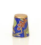 Старый бронзовый наперсток Клуазоне, латунь, бронза, перегородчатая эмаль, винтаж, птицы, фото 4