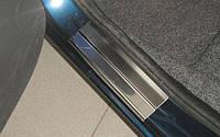Накладки на пороги Nissan  Note 2005- 4шт. premium
