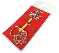 Ножницы маникюрные CREZ (для кутикулы) с золотыми ручками