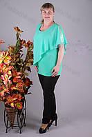 Блуза 2913-436/3 шифон больших размеров оптом