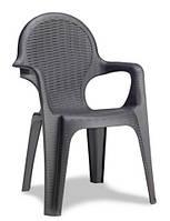 Кресло садовое Интерсити антрацит