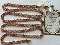 Золотая цепь 585 пробы, плетение нонна, 50 см