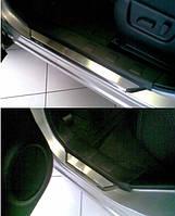 Накладки на пороги Nissan  X-Trail II (T31) 2007- 4шт. premium