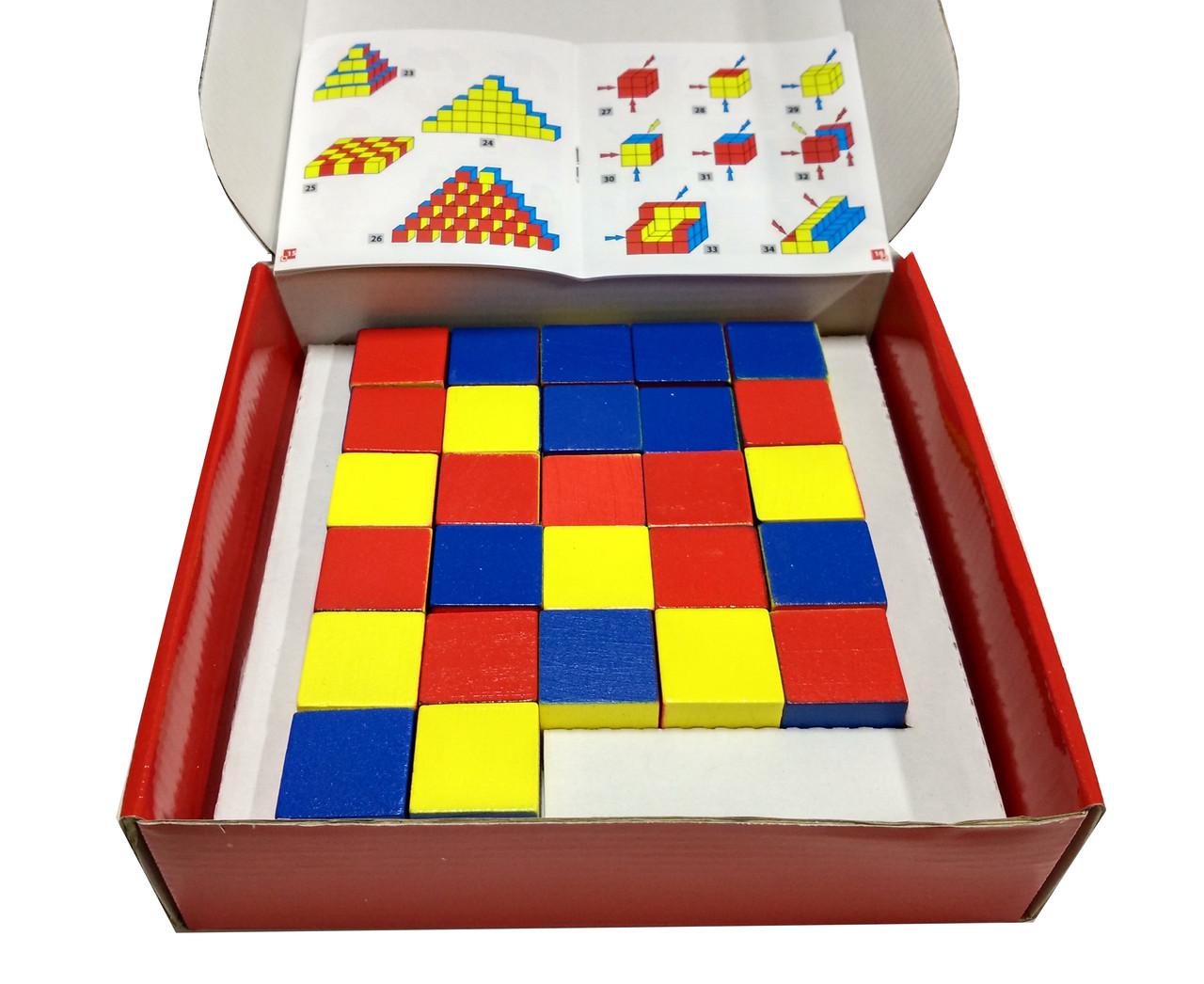 Уникуб, методика Никитина, деревянные кубики 3х3см - фото 2
