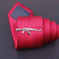 Зажим Bow Tie House Basic для галстука автомат Калашникова - серебристый 08095