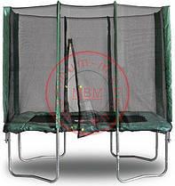 Прямоугольный батут МВМ Kidigo 215 х 150 см. С защитной сеткой