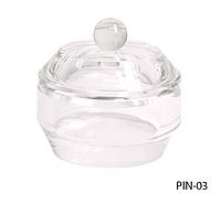 Стеклянная посуда для мономера с крышкой круглой формы Lady Victory LDV PIN-03 /08-0