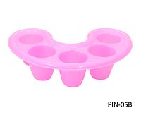 Пластиковая тара для снятия акрила, био-геля (розовая) Lady Victory LDV PIN-05В /94-0