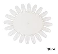 Прозрачный дисплей-ромашка для лаков, гелей (на 20 оттенков) Lady Victory LDV QK-04 /53-0