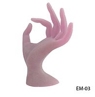 Искусственная кисть руки для обучения маникюра, дизайна ногтей (ОРГСТЕКЛО) Lady Victory LDV EM-03 /80-4