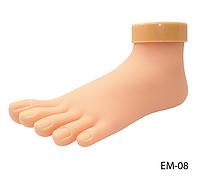 Искусственная нога для обучения педикюру, моделированию и дизайну ногтей на ногах Lady Victory LDV EM-08 /80-4
