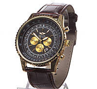 Часы мужские Breitling кварцевые коричневые, For BENTLEY Motors, качественная копия часов