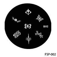 Форма для штампа Lady Victory LDV В02/FSP-002 /44-0