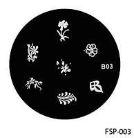 Форма для штампа Lady Victory LDV В03/FSP-003 /44-0