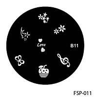 Форма для штампа Lady Victory LDV В11/FSP-011 /44-0