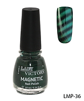Лак для ногтей «Magnetic» Lady Victory LDV LMP-36 /94-0