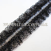 Кружевная декоративная резинка, цвет черный
