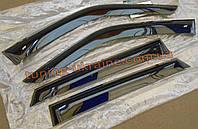 Ветровики (дефлекторы окон) Cobra Tuning на ВАЗ 2190 Lada Granta широкие