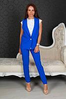 Костюм жилетка+брюки  с манжетом Размеры 42, 44, 46  креп-костюмка