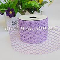 Декоративная ажурная лента-сетка, 6 см,  цвет сиреневый