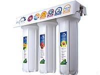 """Тройная система для очистки воды """"Гейзер-3ИВЖ люкс"""", проточного типа ,3 ступени очистки"""