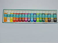 Акриловые краски Global Fashion 18 цветов(6 мл), краски, набор акриловых красок