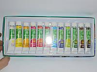 Набор акриловых красок Global Fashion 12 цветов(12 мл), краски, набор акриловых красок