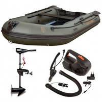 Надувная лодка + электро мотор Fox FX 320 Inflatable Boat лодка 3.2m + мотор FX54 Outboard + эл.насос Fox Air , фото 1