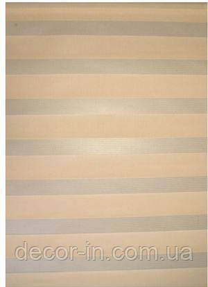 Тканевые ролеты День-ночь. Пудра  65 см х 170 см. Готовые размеры.
