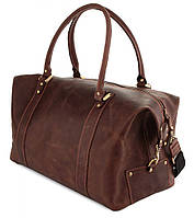 Cпортивная - дорожная сумка из натуральной кожи в винтажном стиле SHVIGEL 00510